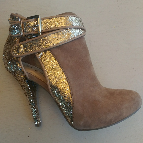Womens Brand New Glitter Ankle Boots